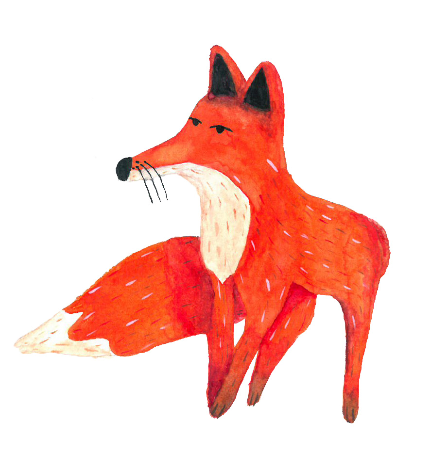 Gouache Fox